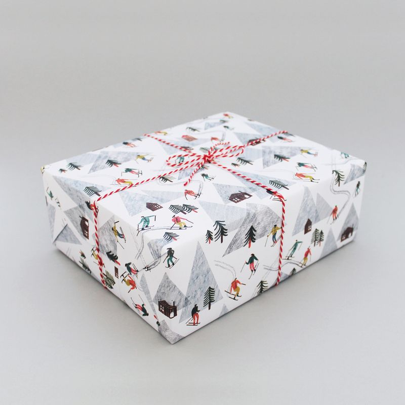 Skiing_wrapping_paper